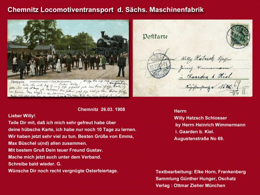 Chemnitz Locomotivenbtransport