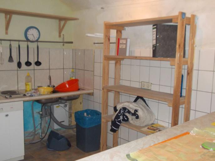 Chill Out-Küche bei der Renovierung...
