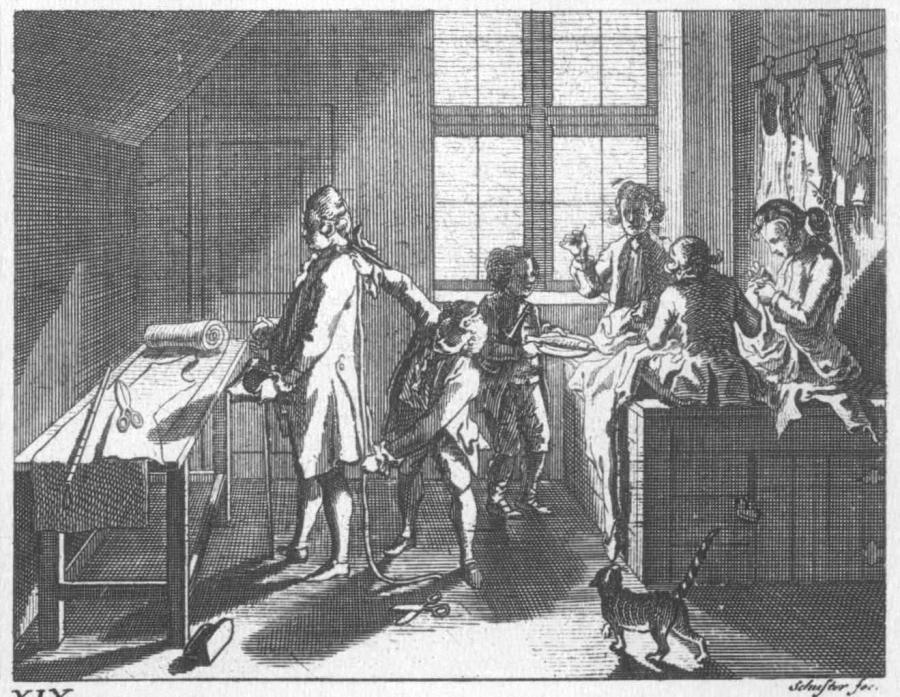 Der Schneider mit seinen Gehilfen 1774
