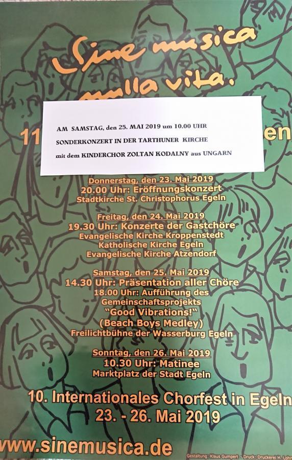 Chorfestival Egeln Konzert in Tarthun