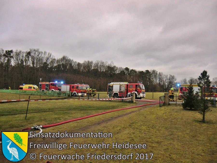 Einsatz 335/2017 | Brennt Nebengebäude | Dolgenbrodt Fährwinkel | 23.12.2017