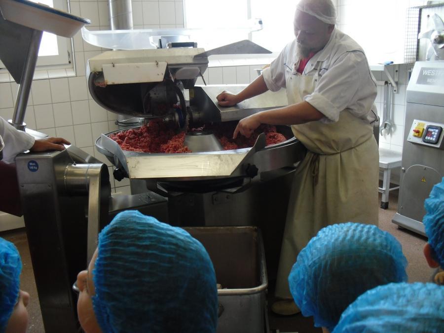Betriebsbesichtigung in der Fleischerei Kadach