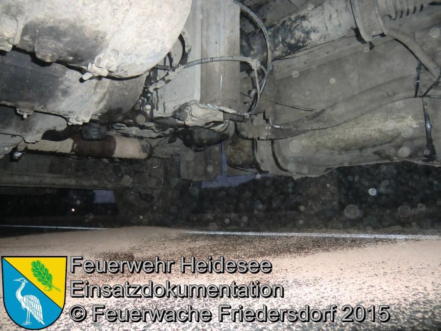 Einsatz 25/2015 Ölspur L40 Ortslage Friedersdorf 18.02.2015
