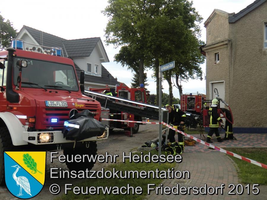 Einsatz 91/2015 Dachstuhlbrand Gräbendorf 14.05.2015