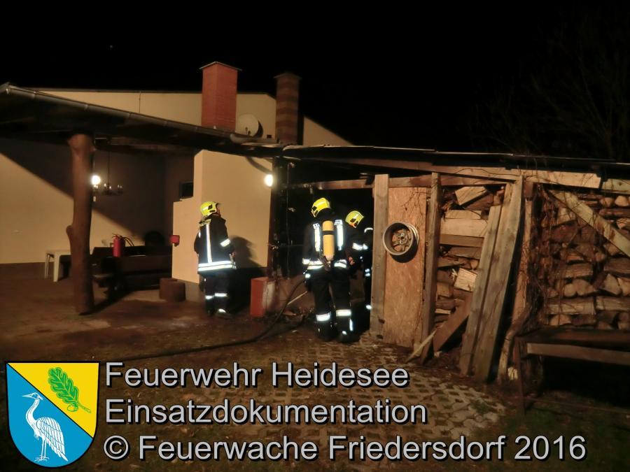 Einsatz 1/2016 | Schuppenbrand | Wolzig Friedersdorfer Straße 31.01.2016
