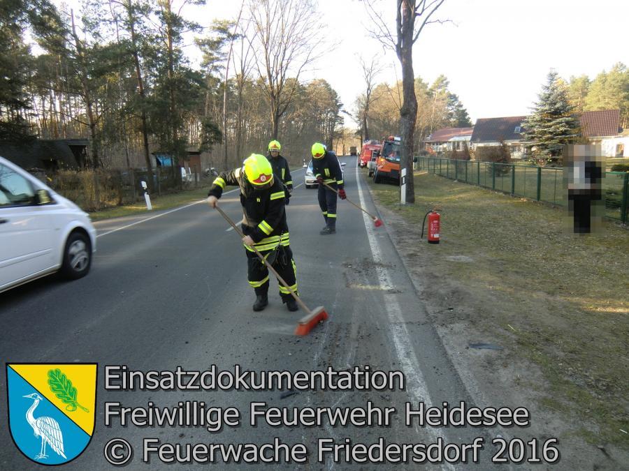 Einsatz 15/2016 | Transporter gegen Baum | L39 OV Friedersdorf - Wenzlow 17.03.2016