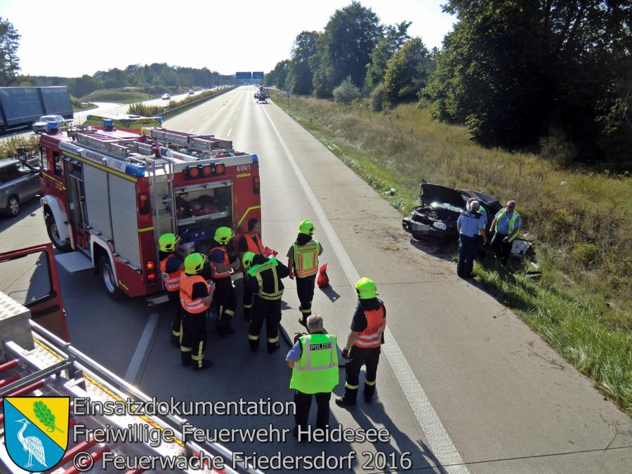 Einsatz 88/2016 | PKW überschlagen | BAB 10 AD Spreeau - AS Niederlehme 27.08.2016