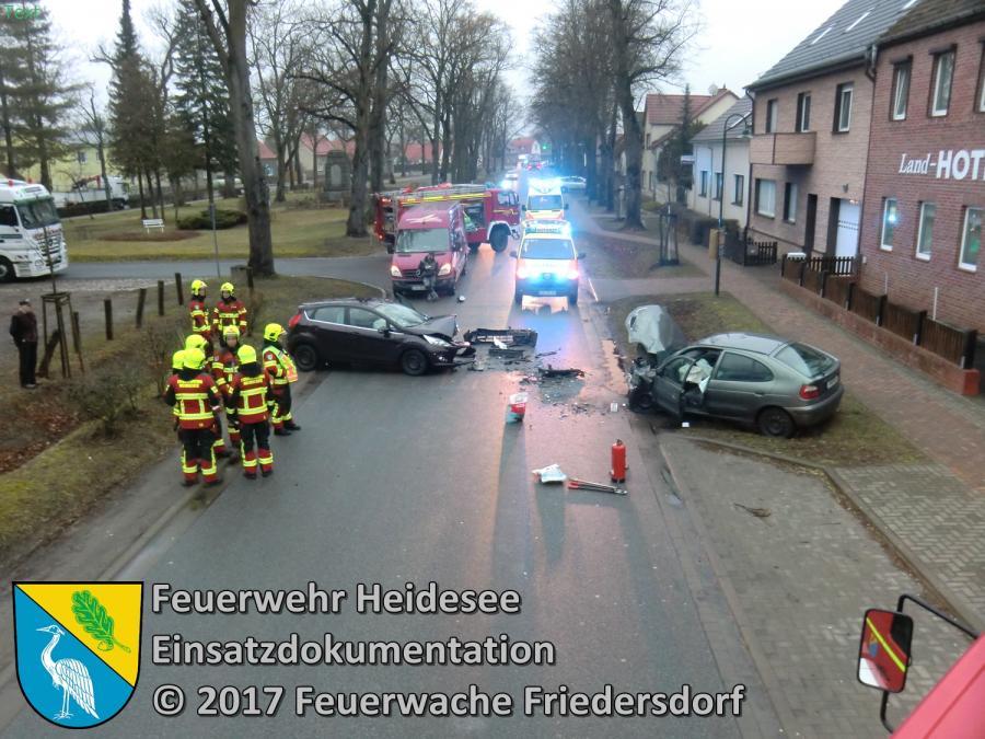 Einsatz 12/2017 | PKW gegen PKW | Friedersdorf Lindenstraße 09.03.2017