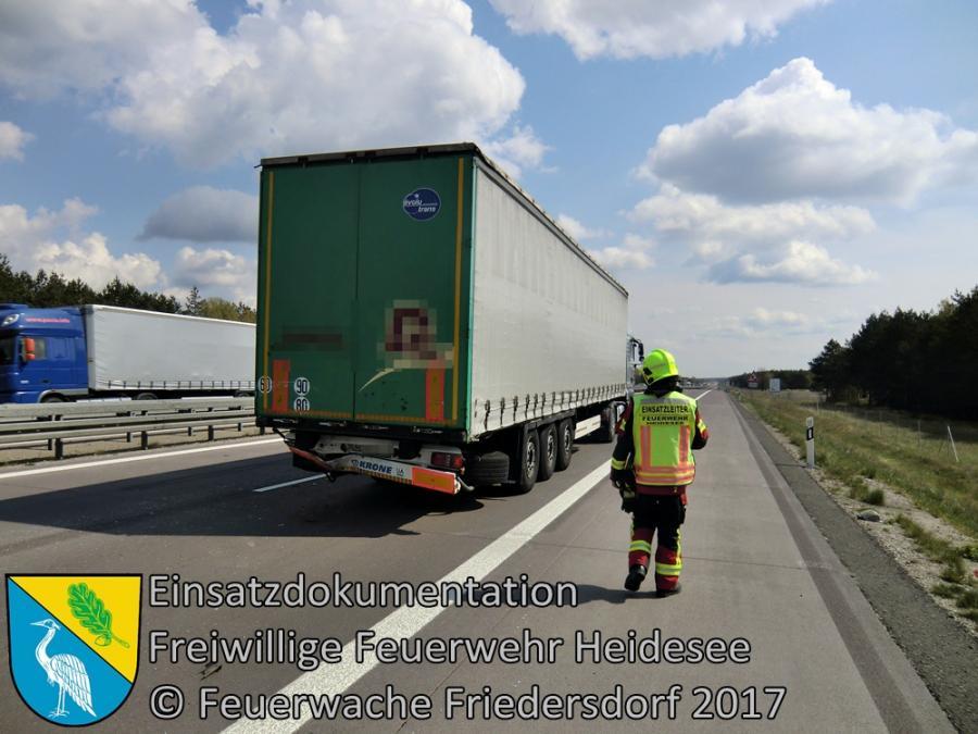 Einsatz 33/2017 | Transporter auf LKW | BAB 12 AS Friedersdorf - AS Storkow | 27.04.2014