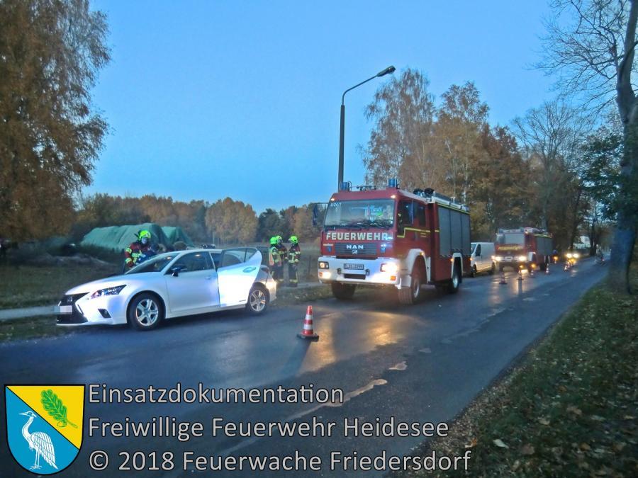 Einsatz 147/2018 | VU PKW - Kleintransporter | Bindow Bindower Hauptstraße | 05.11.2018