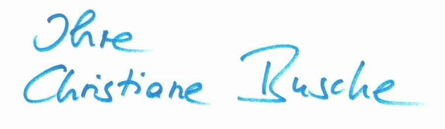 Unterschrift Ihre Christiane Busche