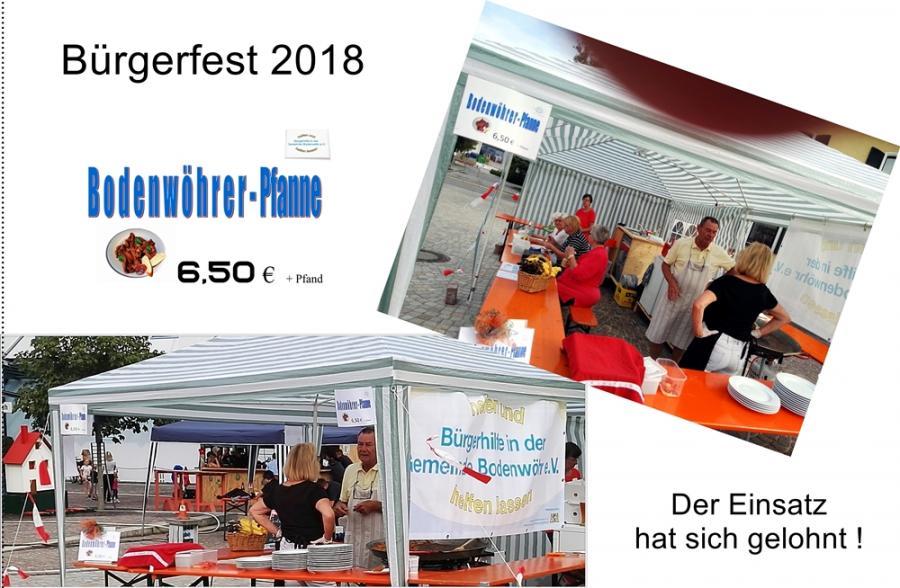 Bürgerfest Stand 2018