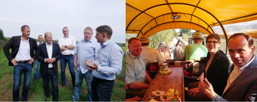 Politiker informieren sich zu Agroforst