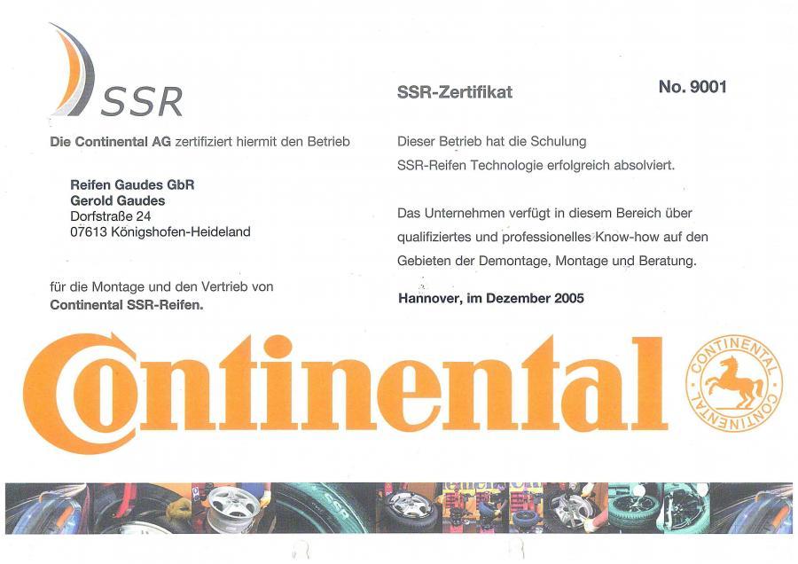 Continental Zertifizierter Fachbetrieb