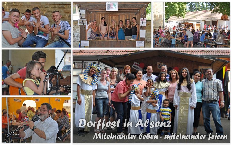 Dorffest in Alsenz - Miteinander leben - miteinander feiern