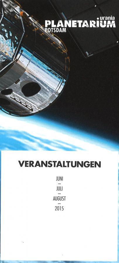 Cover Planetariumsprogramm Sommer 15