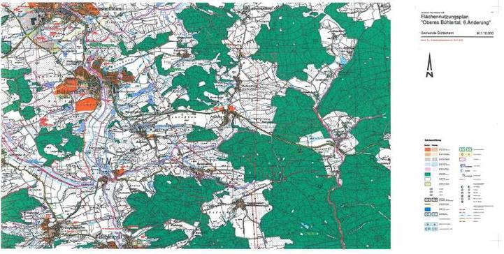 """Flächennutzungsplan """"Oberes Bühlertal, 6. Änderung"""""""