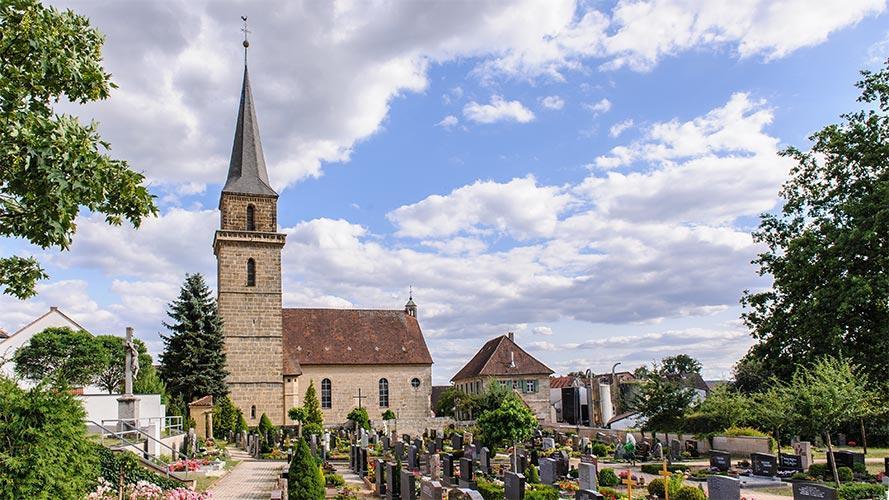 Panoramabild Kirche Dormitz