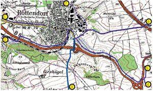 Rad- und Wanderwege rund um Rottendorf (Stand: Juli 2011)