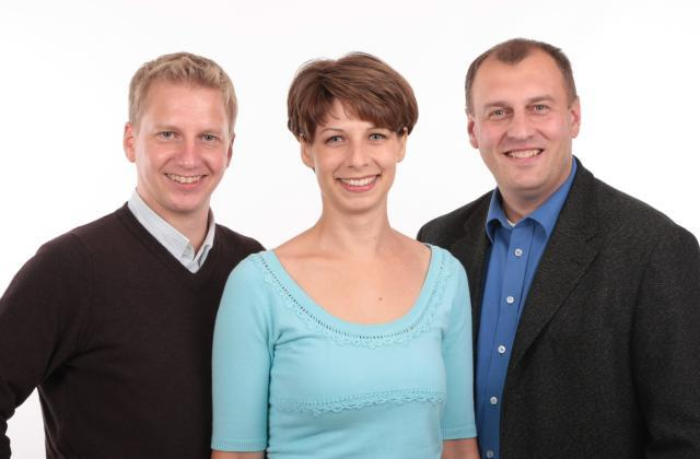 Der Vorstand (v.l.n.r.): Uwe Giersdorff, Katja Krellig, Andreas schramm