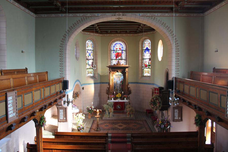 Blick in die Cunersdorfer Kirche.