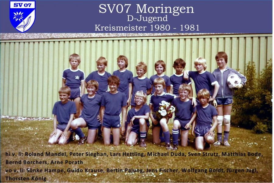 D-Jugend 1980 - 1981