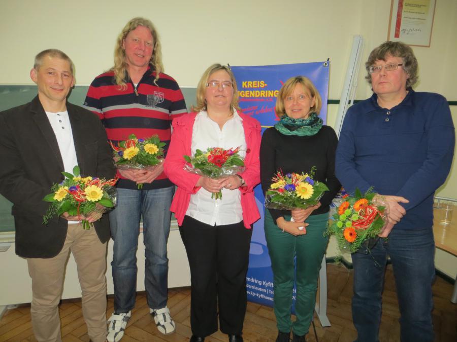 Vorstandswahl am 24.02.2014 (Carsten Winkler, Andreas Gothe, Sabine Bräunicke, Cornelia Naumann, Uwe Ludwig)