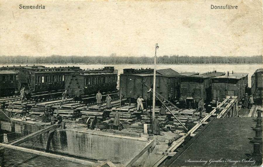 Semendria Donaufähre 1916