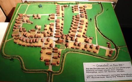 Diorama zur Ortschaft um 1600 n.Chr.
