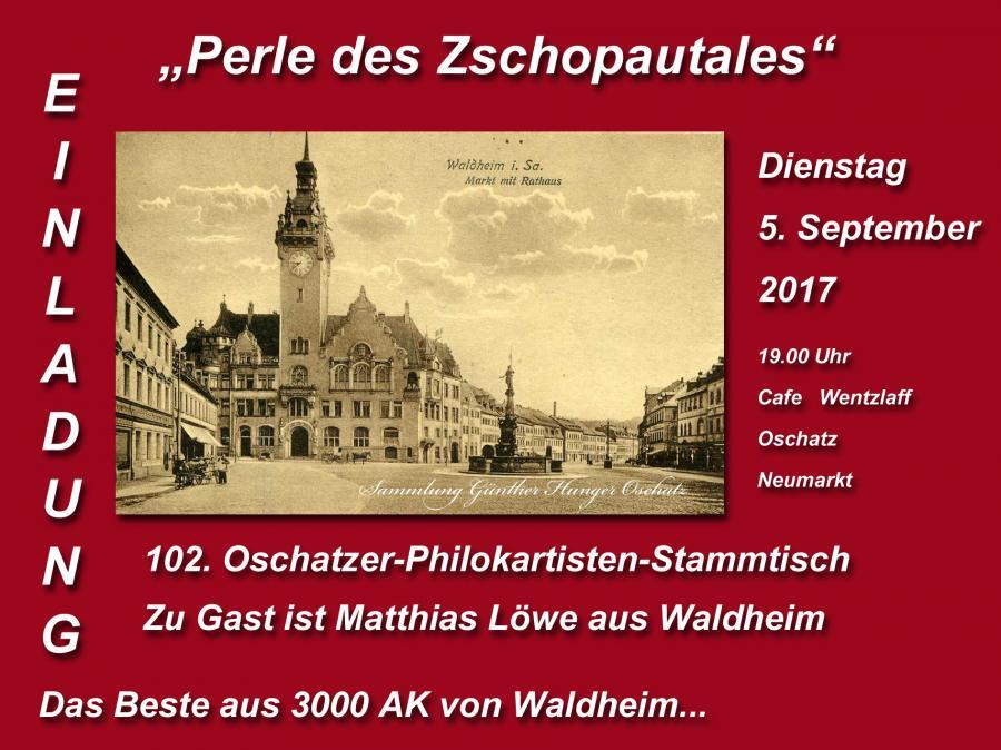 Einladung 102.Oschatzer-Philokartisten-Stammtisch