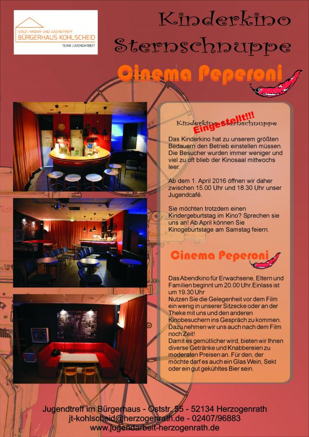 Cinema Peperoni o. Kinder