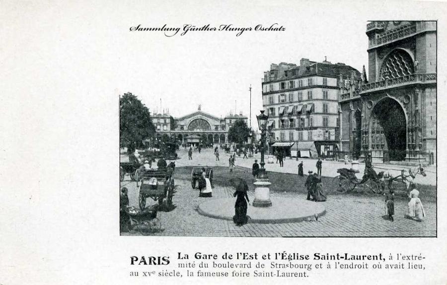 Paris La Gare de l`Est