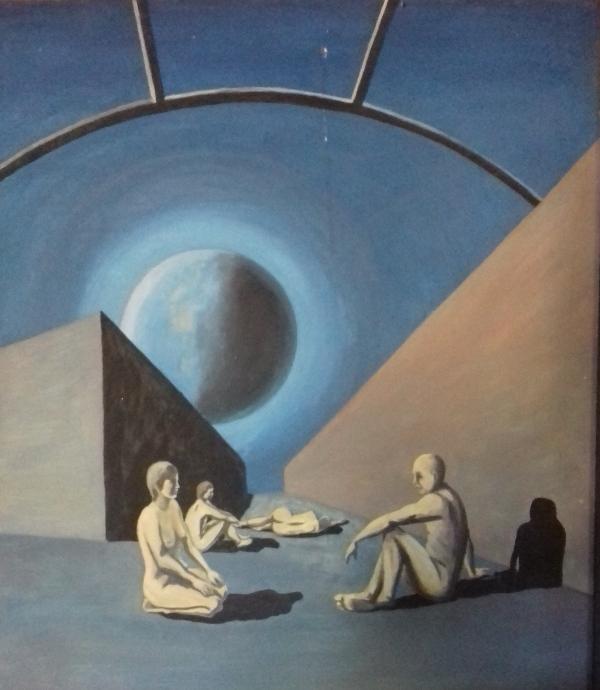 Der blaue Planet1988 Öl auf Hartfaser60 x 70 cm
