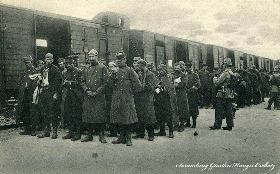 Französische Kriegsgefangene1914