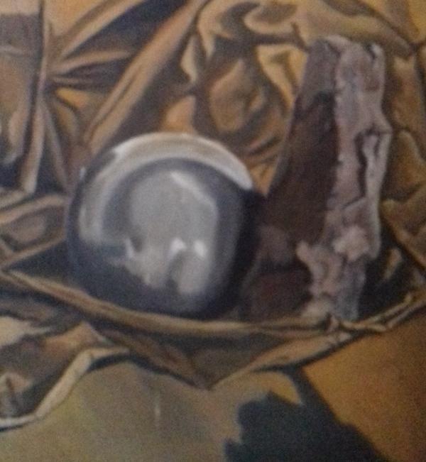 Stillleben mit Kugel1987 Öl auf Hartfaser60 x 62 cm