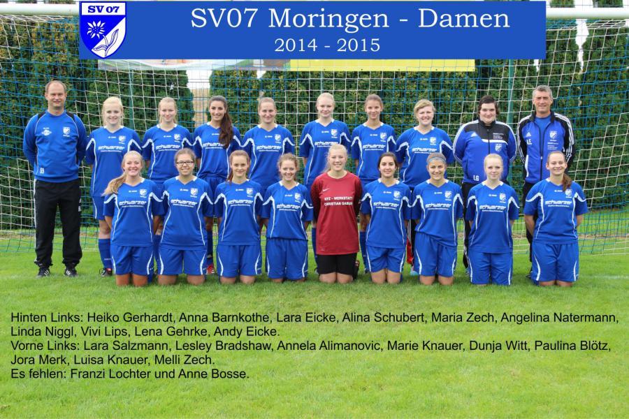 Damen Mannschaft 2014 - 2015