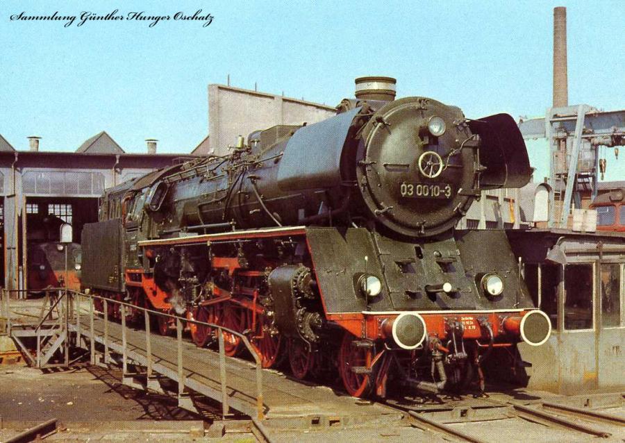 Dampflokomotiven im Ostseebezirk Lok BR 03 0