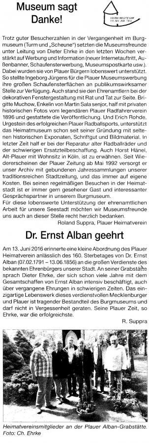 Danke und Albans Grab