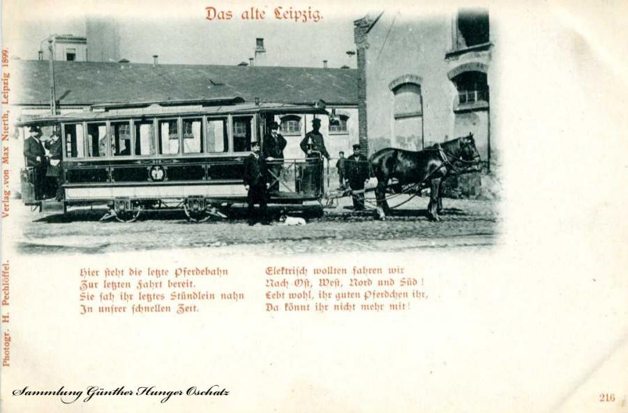 Das alte Leipzig Pferdebahn