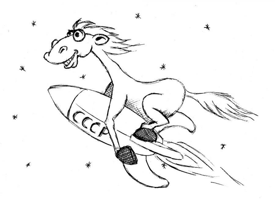 Das Erste Pferd im Kosmos