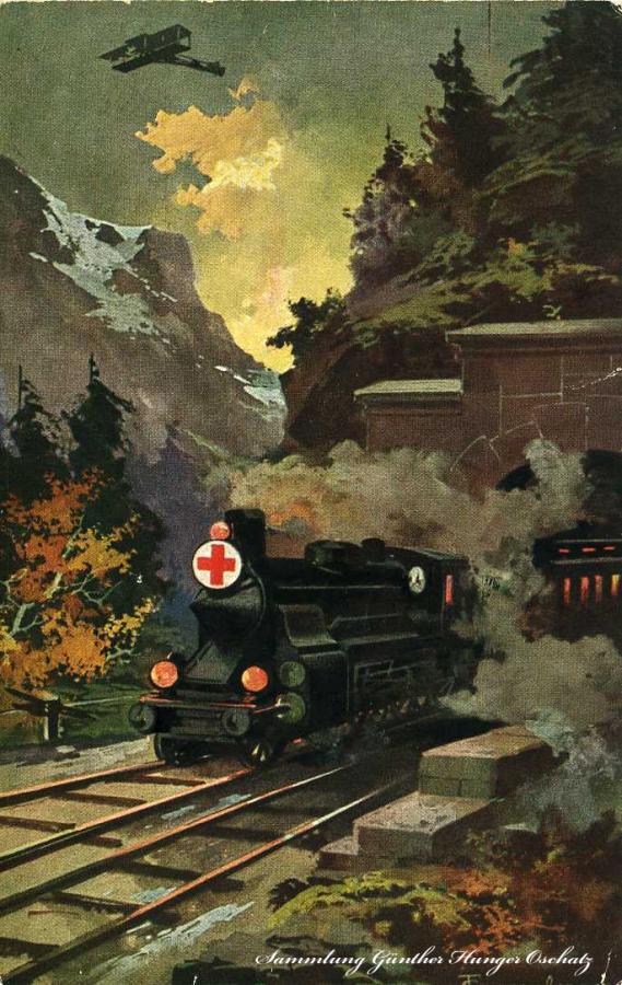 Das Rote Kreuz am Schienenstrang