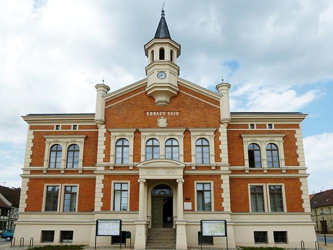 Das sanierte Rathaus Liebenwalde
