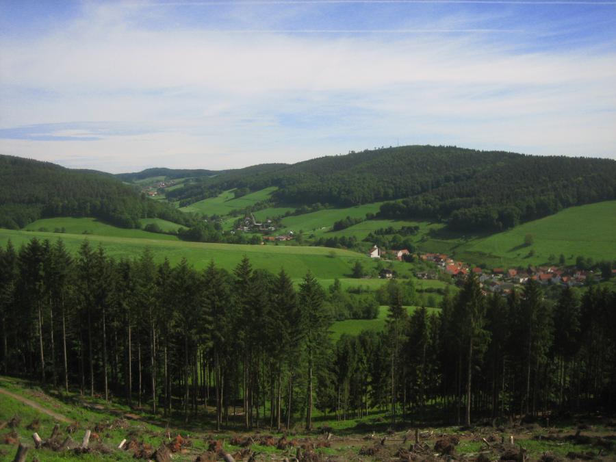 Das Sensbachtal vom Schnuppenberg