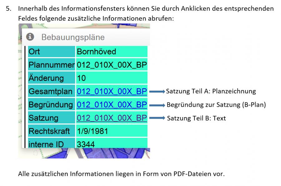 Zusätzliche Daten im Info-Fenster