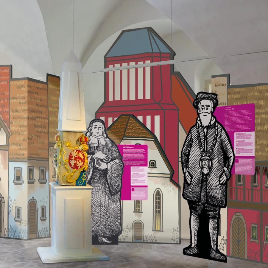 Dauerausstellung_Schloss und Festung Senftenberg_Illustration_Sönke Hollstein