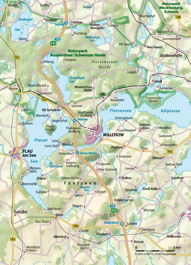 Übersichtskarte der Region
