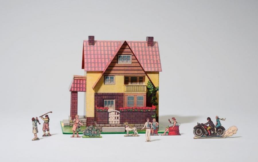 Modell einer kleinen Villa. Verlag Oehmigle&Riemschneider, Neuruppin, nach 1920. Modellbauer Peter Wolfrum, Frankfurt/Main. Foto: Kienzle|Oberhammer