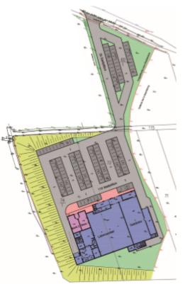 """Das neu erschlossene Sondergebiet """"Einzelhandel"""" Unterhaun"""
