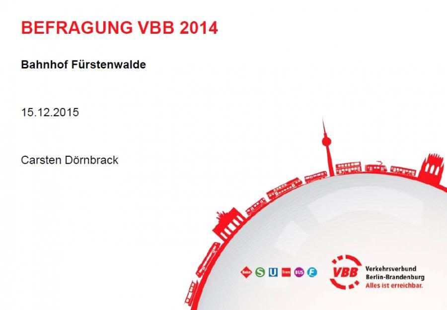 Deckblatt Befragung VBB 2014
