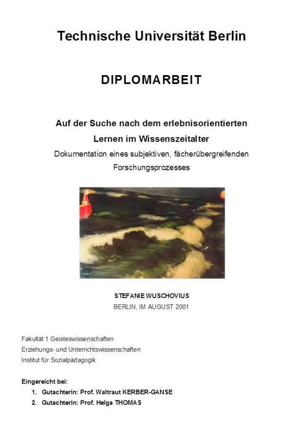 Deckblatt Diplomarbeit